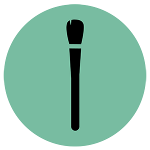 Make up brush icon